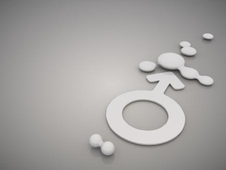 mirrow: 3D graphic  mirrow man symbol  in a stylish grey background