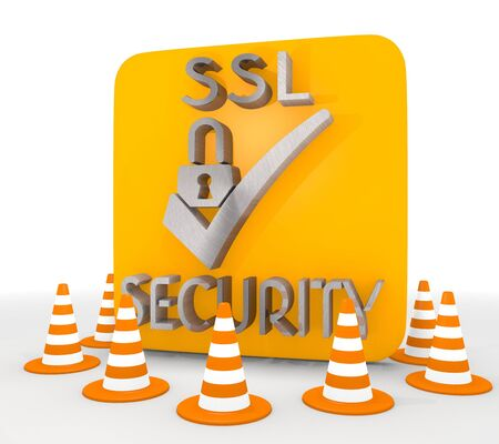 ciphering: Red  isolated work 3d graphic with decorative SSL icon