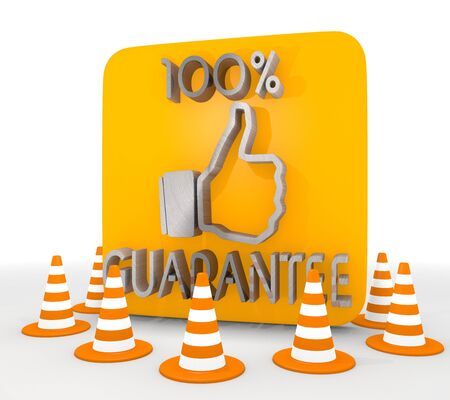 shutoff: Red  metallic steel 3d graphic with best guarantee icon  Stock Photo