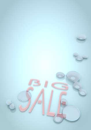 nifty: Donker pastel blauw nifty aanbod 3D grafische met harmonieus 3d pictogram grote verkoop
