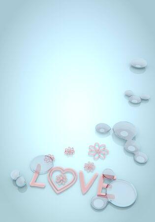 pale cream: Dark pastel blue  coltish blend 3d graphic with coltish love symbol