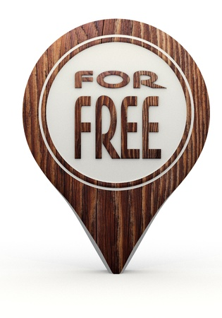 Pastel gray  best price reduction 3d graphic with natural free sign on a set of wooden  markers photo