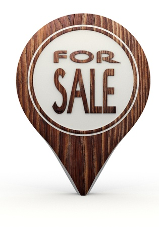 Pastel gray  icon business 3d graphic with ecological sale sign on a set of wooden  markers photo