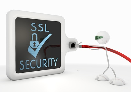 ciphering: Pastel gray  exclusive access 3d graphic with isolated SSL icon with futuristic 3d character