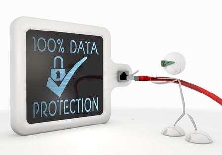 ciphering: Pastel gray  isolated security 3d graphic with cute data protection symbol with futuristic 3d character