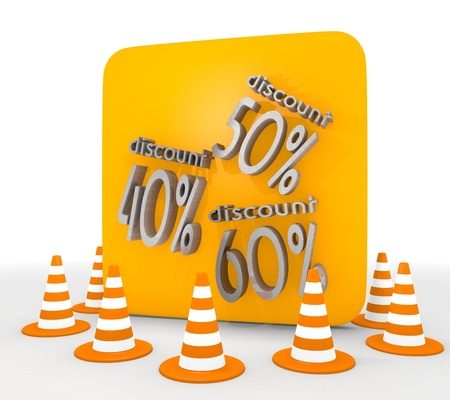 shutoff: Red  30 barrier 3d graphic with isolated discount icon  Stock Photo