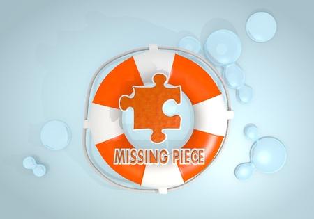 missing piece: Oscuro pastel rojo completo 3d gr�fica con la seguridad creativa falta icon pieza rescatada por un Lifesafer