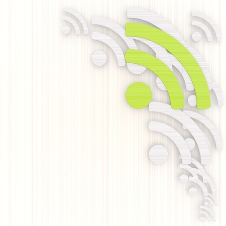 gradiant:  3d graphic with noble wifi background with pictogram Stock Photo