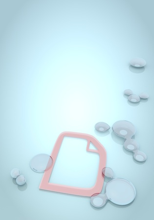 nifty: Dark pastel blue  pale new 3d graphic with nifty document on blue background with water drops