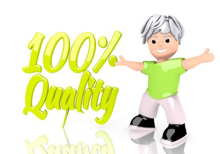 Limerick  young sale 3d graphic with funny quality icon  with cute 3d character photo