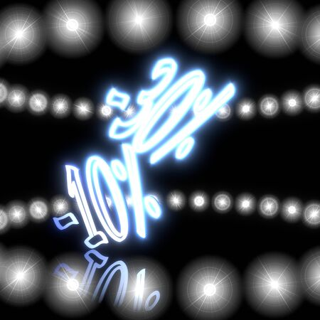 price reduction: Cool black  neon price reduction 3d graphic with magic discount icon  with shining effect lights