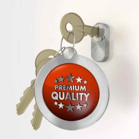 best security: Red  best security 3d graphic with isolated premium quality symbol  on a key