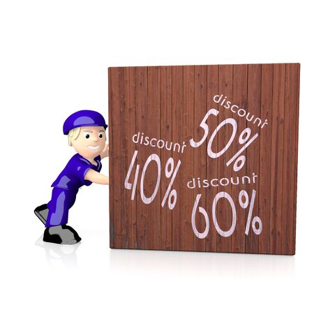 White  3d best price 3d graphic with isolated discount icon  on delivered box