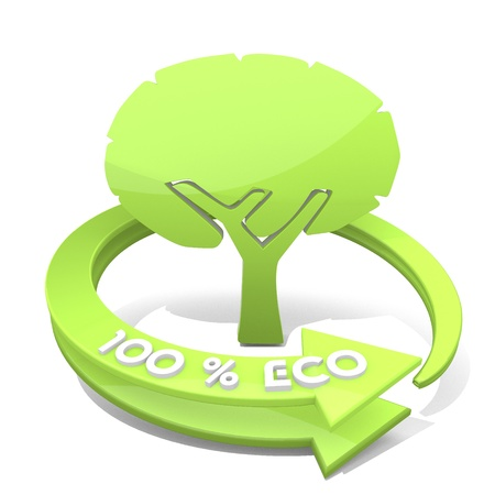 autumnn: White  eco wood 3d graphic with sustainable abstract tree symbol  a 100 percent eco