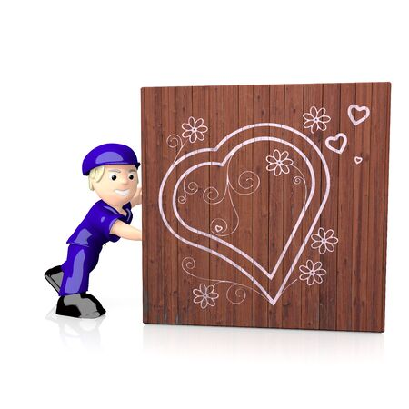delivered: 3d graphic with coltish heart symbol on delivered box