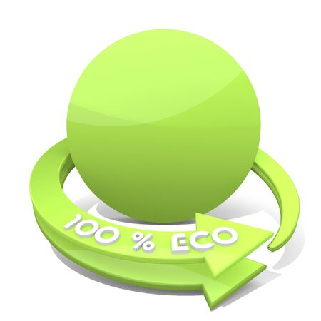 cream filled: 3d graphic with sustainable circle symbol
