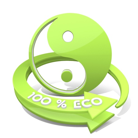 3d graphic with harmonical ying yang sign Stock Photo - 20996367