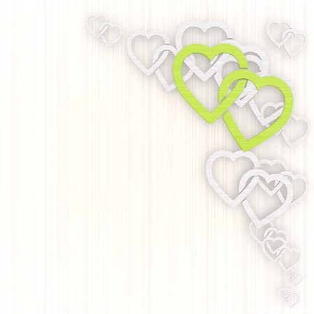 GRADIANT: 3d graphic with coltish two hearts background with pictogram Stock Photo