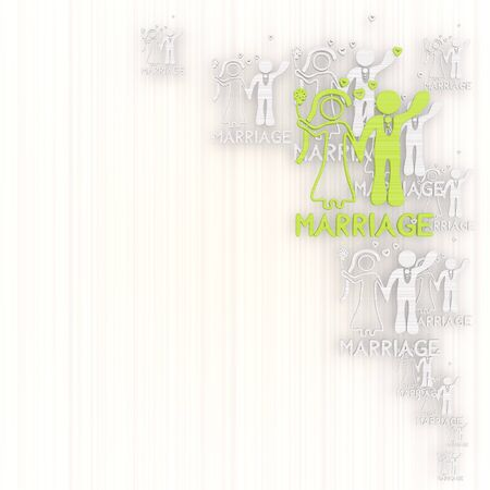 GRADIANT: 3d graphic with wedding marriage background with pictogram Stock Photo