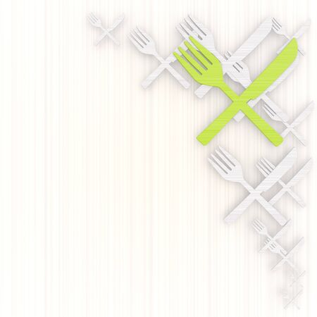 gradiant: 3d graphic with noble restaurant background with pictogram Stock Photo