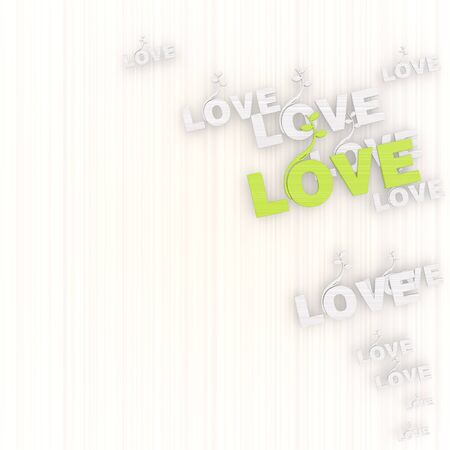 GRADIANT: 3d graphic with growing love background with pictogram
