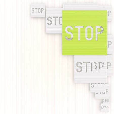 GRADIANT: 3d graphic with elegant stop background with pictogram Stock Photo