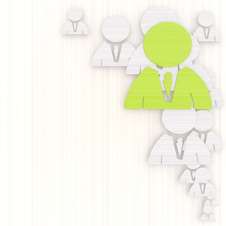 GRADIANT: 3d graphic with designed business man background with pictogram