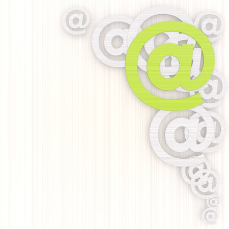 gradiant: 3d graphic with modern email background with pictogram Stock Photo