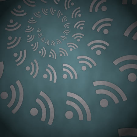 3d graphic with vintage wifi label  on vintage background