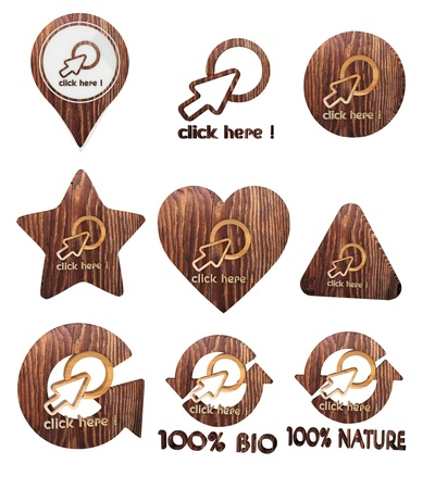 smoky black: Smoky black  environmental eco 3d graphic with environmental click here icon set of wooden 3d buttons