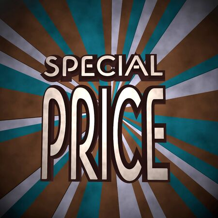 price reduction: Dark pastel red  dirty price reduction 3d graphic with old special price symbol  on retro background