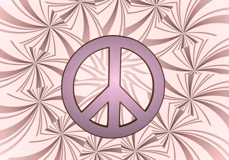 harmful: Sky magenta  harmful love 3d graphic with harmful peace sign  on vintage backgrond