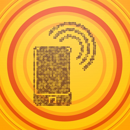 wlan: Smoky black  decorative w-lan 3d graphic with retro smart phone symbol  on circle retro background