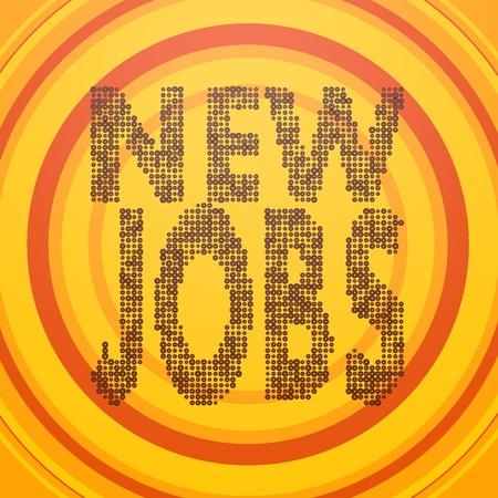 smoky black: Smoky black  stylish create jobs 3d graphic with retro new jobs symbol  on circle retro background