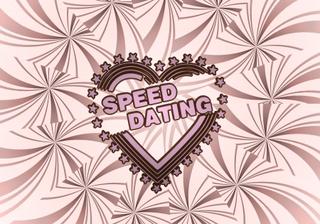 speed dating: Sky magenta  beautiful design 3d graphic with beautiful speed dating icon  on vintage backgrond Stock Photo