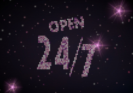 Black  glowing glitter 3d graphic with glowing open symbol of glamour stars Stock Photo - 22589905