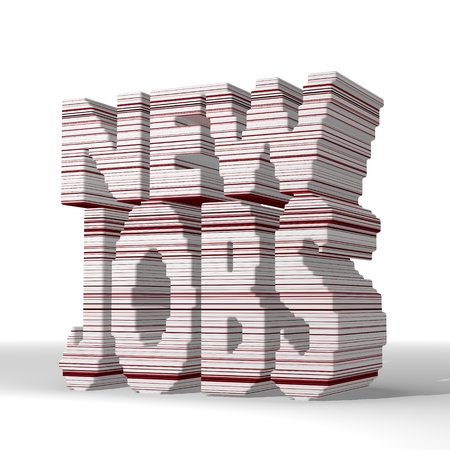 employing: Mint cream  digital employing 3d graphic with digital new jobs sign  with stylish 3d lines