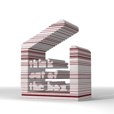 out think: Menta crema ideas geom�tricas gr�fico 3d con lo futurista pensar fuera de la caja de la muestra con las l�neas elegantes 3d
