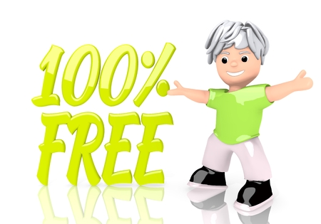 Limerick  happy boy 3d graphic with happy free symbol  with cute 3d character photo