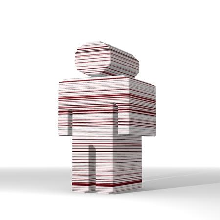 futuristic man: Mint cream  futuristic human 3d graphic with futuristic man icon  with stylish 3d lines Stock Photo
