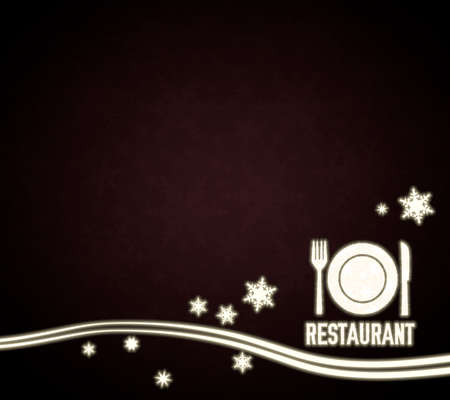 knive: festive noble restaurant template in dark red with christmas snowflakes and glaring stars
