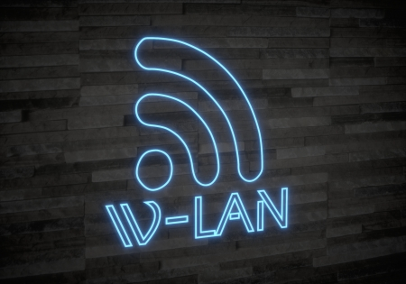 wlan: Pastel gray  exclusive light 3d graphic with elegant w-lan symbol on classy stone wall Stock Photo