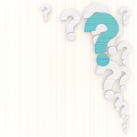 Limerick  ? symbol 3d graphic with undissolved question background with pictogram Stock Photo