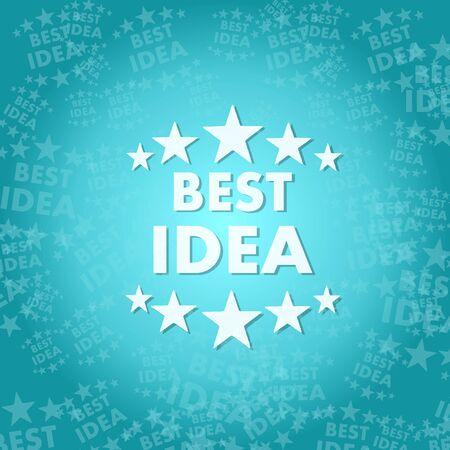 think tank: trendy best idea symbol background with space for own text