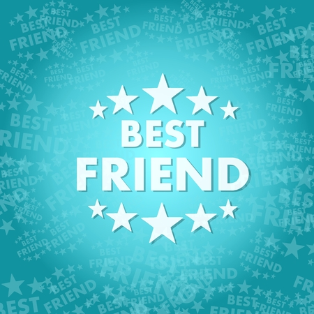 trendy best friend symbol background with space for own text Stock Photo