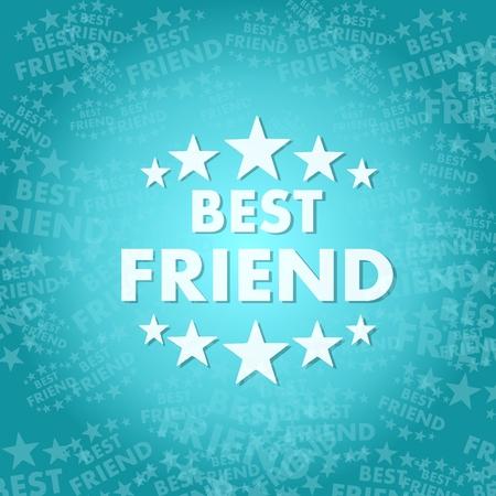 Trendy beste Freundin Symbol Hintergrund mit Platz für Text Standard-Bild - 27216647