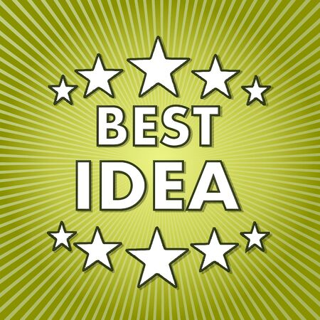 think tank: fresh green best idea sign with abstract background  Stock Photo