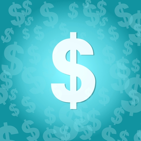 stylish Dollar symbol background with space for own text Stock Photo