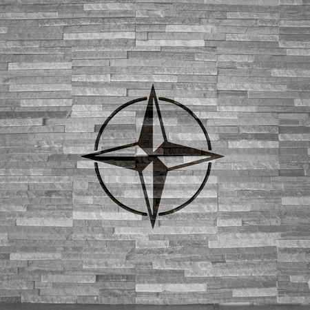 to navigate: Pastel gray  navigating navigate 3d graphic with stylish compass sign  on noble stone texture