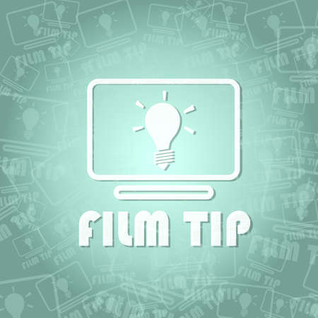 critique: trendy film tip sign background with space for own text Stock Photo